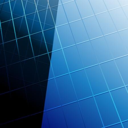 modern blue glass wall of skyscraper. Clip-art Vector