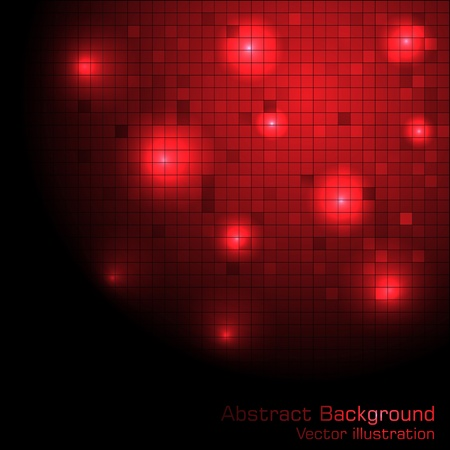 Vector red tech background. Clip-art