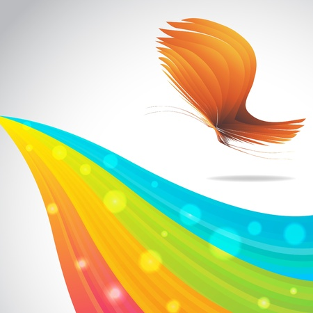 Colorful background with butterfly. Clip-art Vector