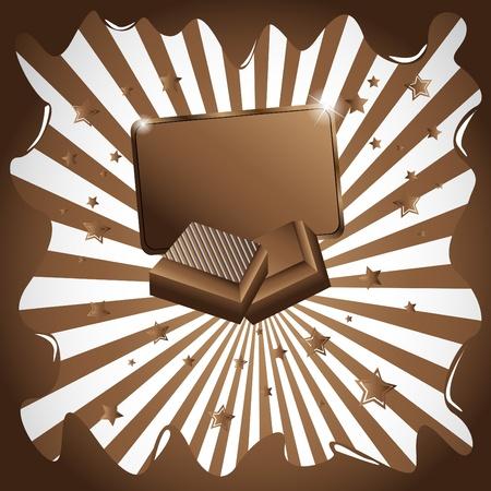 Vector chocolate background. Clip-art Vector