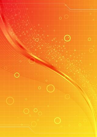 抽象的なオレンジ色の背景。クリップ アート