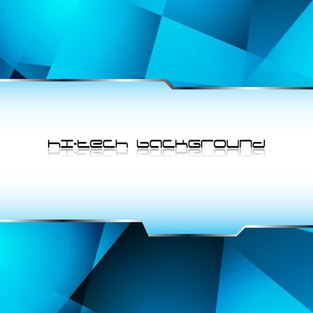 hitech: Hi-tech blue background. Clip-art Illustration