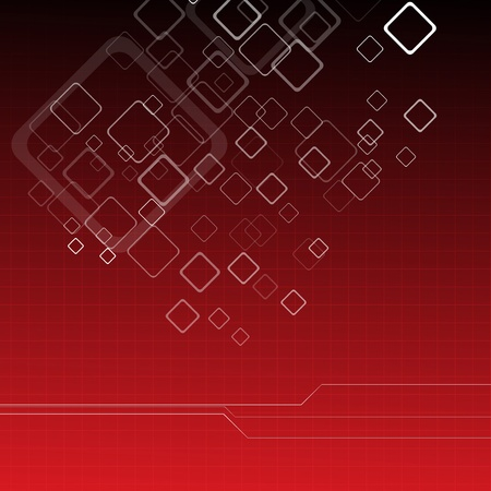 Hi-tech red background. Clip-art Vector