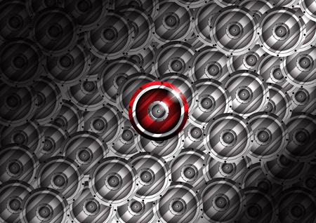 Abstract music background. Clip-art Vector