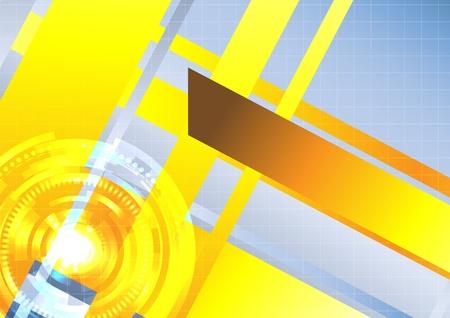 Hi-tech vector background. Clip-art Stock Vector - 9930201