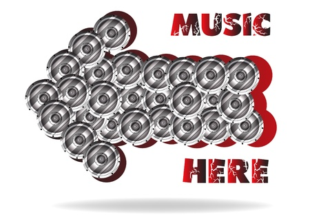 The abstract advertizing of music. Clip-art Vector