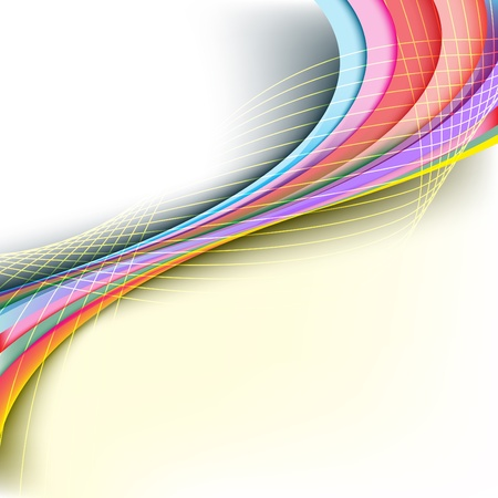 rainbow print: Abstract rainbow arrow banner. Clip-art