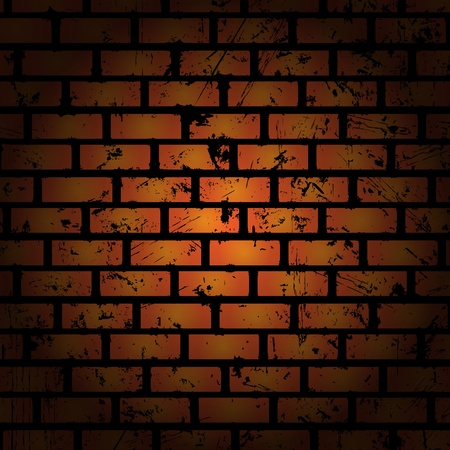 cracked wall: Abstract background. Brick wall. Clip-art Illustration