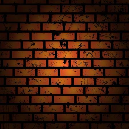 brick clay: Abstract background. Brick wall. Clip-art Illustration