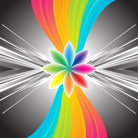 rainbow print: Abstract rainbow background