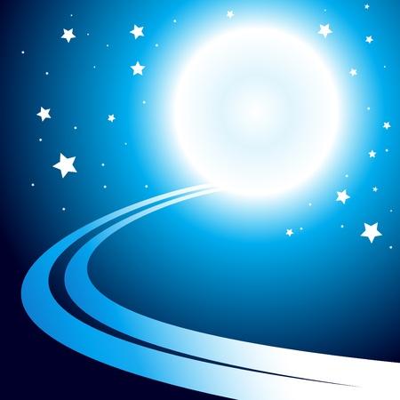 zon en maan: Abstracte achtergrond met maan. Clip-art Stock Illustratie