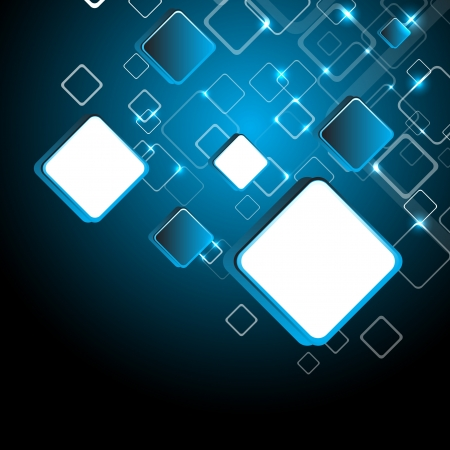 Abstract blue square background. Clip-art Vector