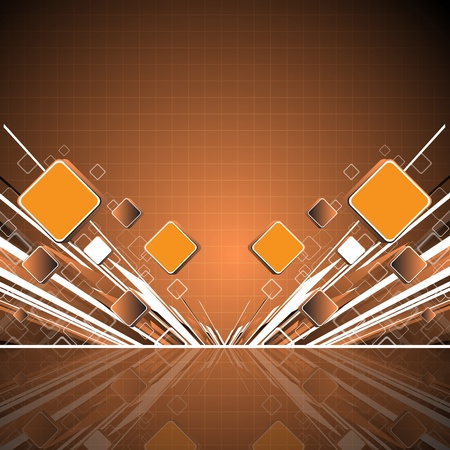 Abstract orange square background. Clip-art