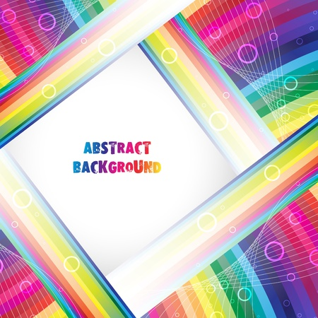 Abstract rainbow background. Clip-art Stock Vector - 10691864