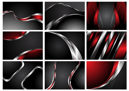 Abstract Collection stylish backgrounds. Clip-art