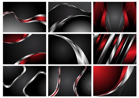 Samenvatting Verzameling stijlvolle achtergronden. Clip-art Stock Illustratie