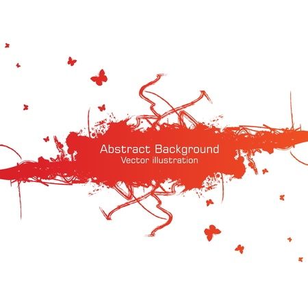 batterfly: Abstract grunge background. Clip-art Illustration