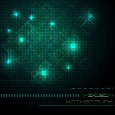 Hi-tech green background. Clip-art Vector