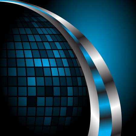 Abstract blue background template. Clip-art