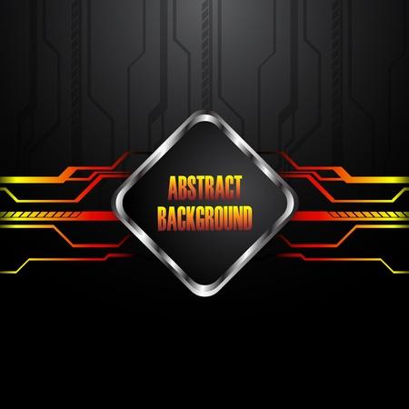 hitech: Hi-tech black background. Clip-art