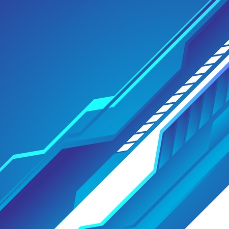 Hi-tech sfondo blu. Clip-art
