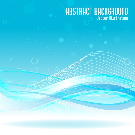 abstract swirls: Abstract blue background. Vector illustration. Clip-art