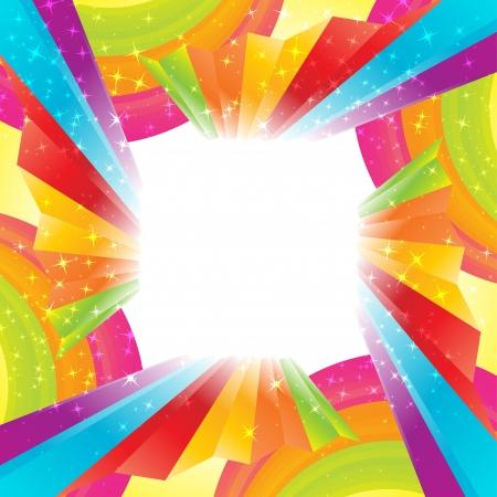 虹の背景を抽象化します。クリップ アート  イラスト・ベクター素材
