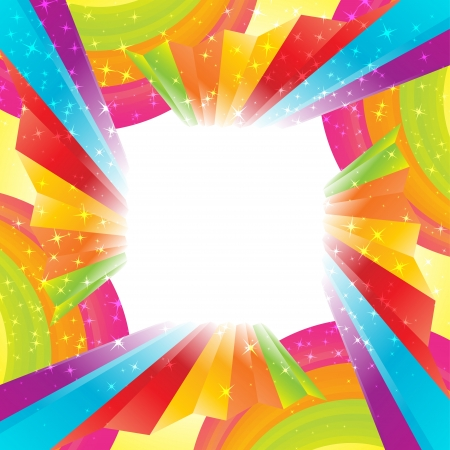 rainbow print: Abstract rainbow background. Clip-art