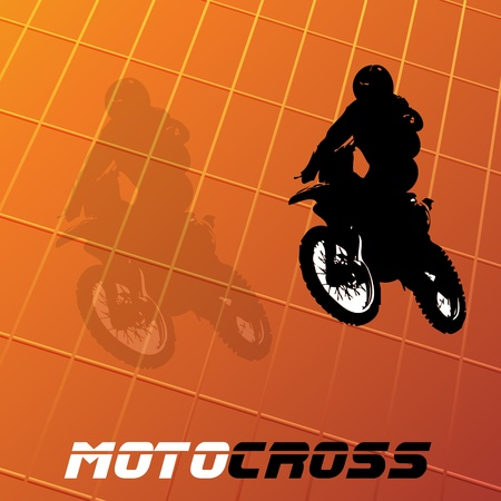 motor cycle: Motocross background. Clip-art