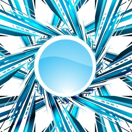 company vision: Abstract blue background illustration