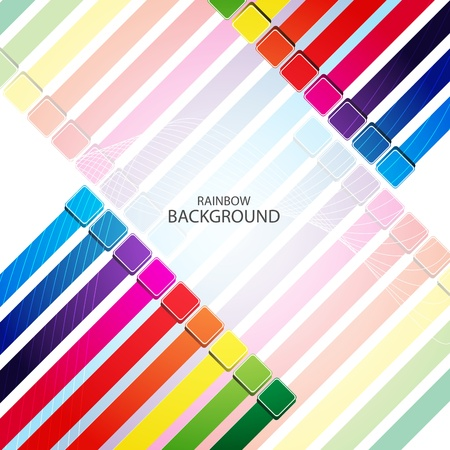Abstract rainbow arrow banner. Clip-art Vector