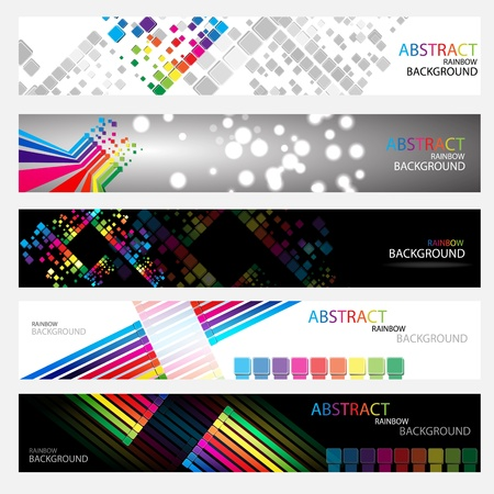 home network: Banners for web  Illustration
