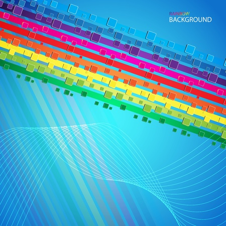 Abstract rainbow background. Clip-art Stock Vector - 12484059
