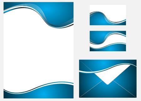 bright borders: Vector blue company identity template. Clip-art