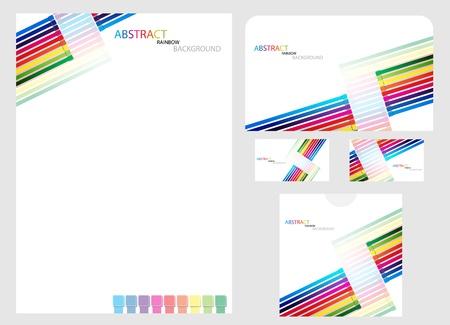Vector rainbow company identity template. Clip-art Vector
