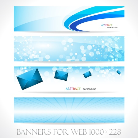 abstract zoom: Banners for web (Vector collection6). Clip-art Illustration