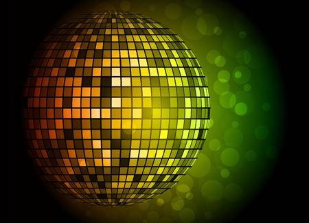 discoball: Disco ball. Vector illustration. Clip-art Illustration