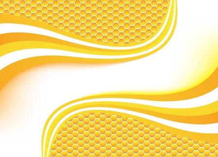 combs: Vector honey background. Clip-art Illustration