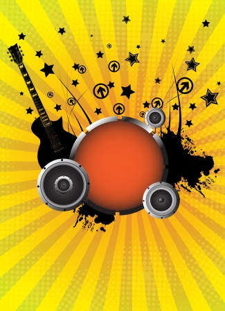 Abstract music background illustration clip-art Vector