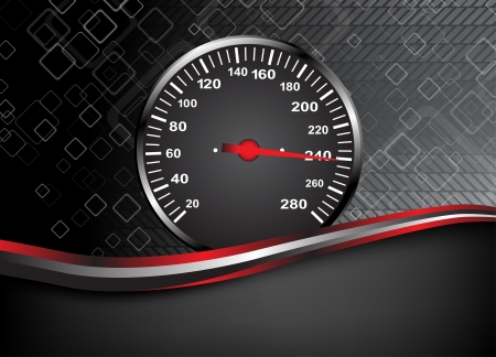 Car speedometer  Abstract background illustration clip-art Vector