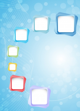 Abstract blue background. Clip-art Vector