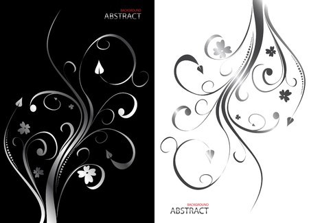 Abstract floral background  Clip-art Illustration