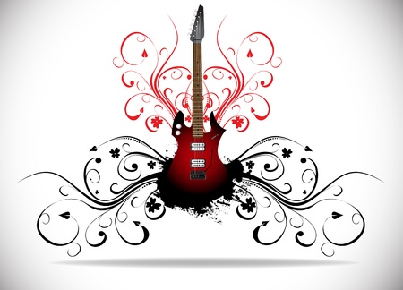 rock music: Abstract music background  Clip-art Illustration