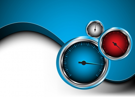 fast driving: car speedometer  Abstract background  Clip-art