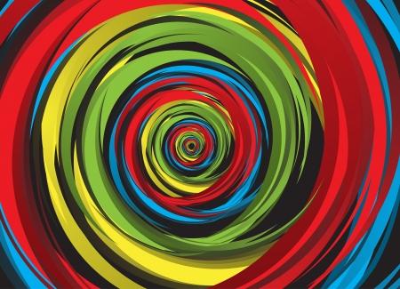 Abstract regenboog krul. Clip-art