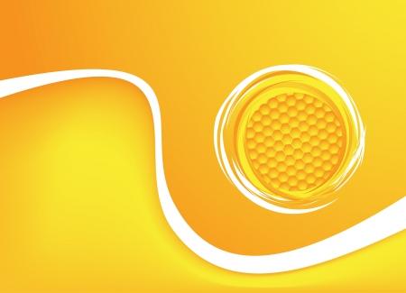 Honey comb: Honey background illustration  Clip-art
