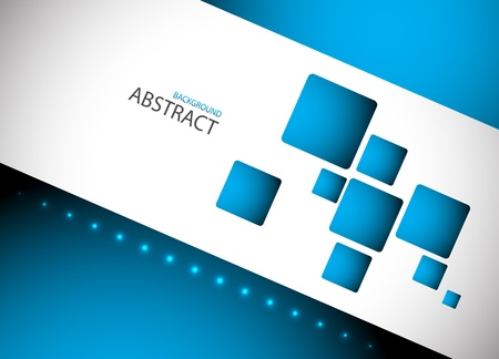 smooth curve design: Abstract blue hi-tech background  Clip-art