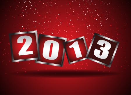 Happy New Year 2013  Clip-art Stock Vector - 16655806