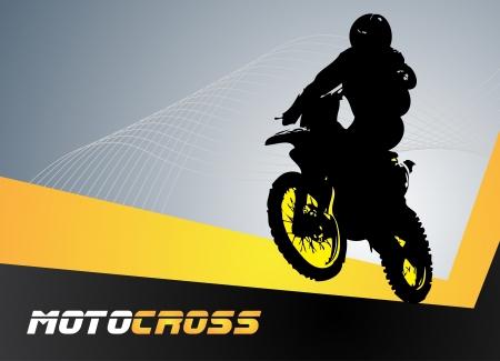 Vector motocross  Clip-art Stock Vector - 16655813