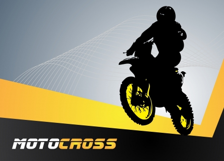 motorcycle helmet: Vector motocross  Clip-art Illustration